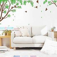 РАСПРОДАЖА! Виниловая наклейка - Дерево с листьями