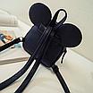 Рюкзак женский мини Mikki кожзам однотонный Черный, фото 4