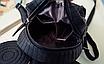 Рюкзак женский мини Mikki кожзам однотонный Черный, фото 5