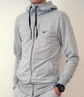 Мужской зимний спортивный костюм (кофта, штаны) Nike серый