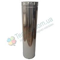 Труба-сэндвич для дымохода d 130 мм; 0,5 мм; AISI 304; 1 метр; нержавейка/нержавейка - «Версия Люкс»