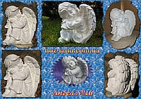 Скульптура Ангел грустит №16 (белый) Гипс