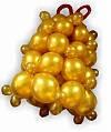 Новогодняя композиция из воздушных шаров Колокольчик 1 м