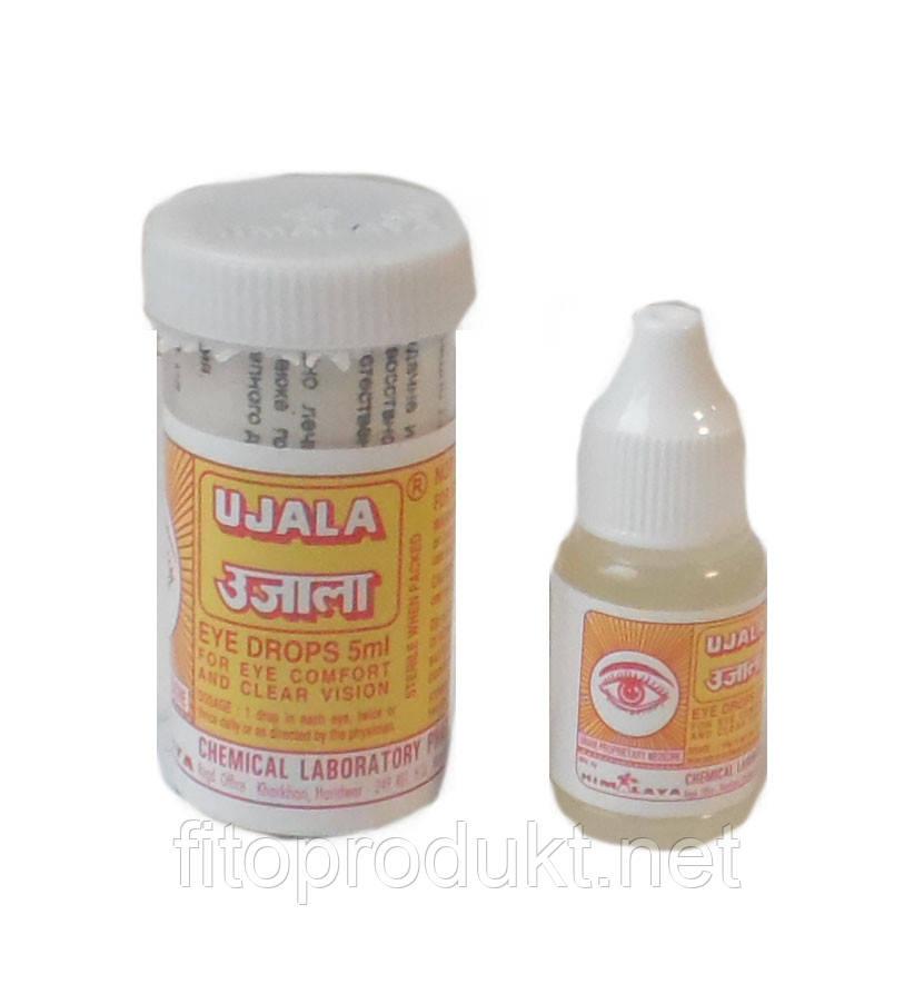 Уджала капли для снятия глазного напряжения лечение катаракты 5 мл Индия