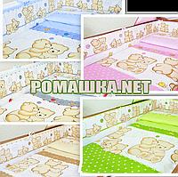 Комплект детского постельного белья (детская постель в кроватку) Друзья наволочка простынь пододеяльник 3913, фото 1