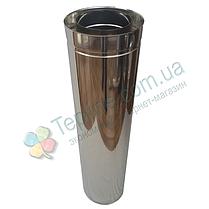 Труба-сэндвич для дымохода d 180 мм; 0,8 мм; AISI 304; 1 метр; нержавейка/нержавейка - «Версия Люкс», фото 3