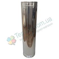 Труба-сэндвич для дымохода d 180 мм; 0,8 мм; AISI 304; 1 метр; нержавейка/нержавейка - «Версия Люкс», фото 2