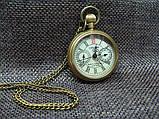 Часы карманные бронзовые механика London, фото 2