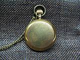 Часы карманные бронзовые механика London, фото 3