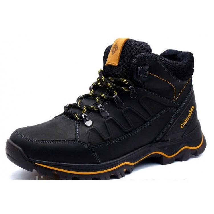 0acd8b476ef0 Мужские зимние кожаные ботинки Columbia black  продажа, цена в ...