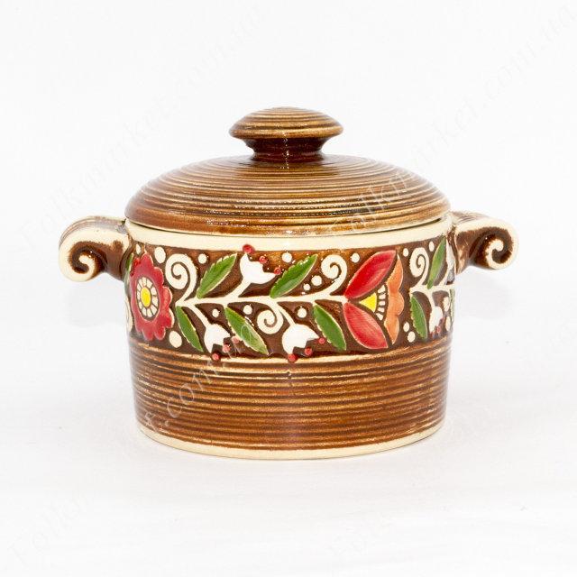 Каструля керамічна коричнева