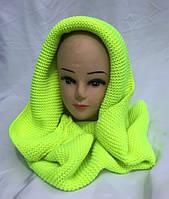 Хомут-шарф женский трансформер салатовый