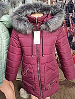 Куртка зимняя  женская с меховым воротником
