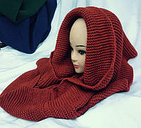 Хомут-шарф женский трансформер терракот