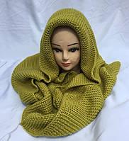 Хомут-шарф женский трансформер олива