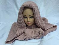 Хомут-шарф женский трансформер пудра