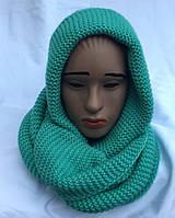 Хомут-шарф женский трансформер бирюза