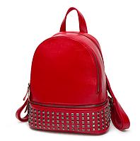Рюкзак женский Aleksa pu кожа Красный