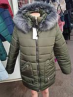 Красивая молодежная куртка зимняя с мехом