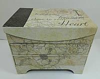 Декоративна коробка - скринька W 8968, 24*16*20 Декоративная коробка - шкатулка
