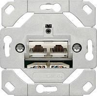 Механизм 2-й  компьютерной розетки cat.6a IEEE 802.3an Gira - 245200
