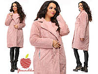 Пальто меховое утепленное 42-56 разные цвета