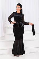ДТ1193 Вечернее платье годе размеры 50-56, фото 2
