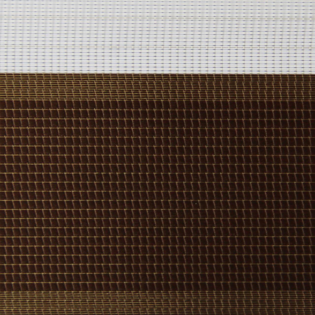 Рулонные шторы День-ночь Ткань Сандра Шоколад