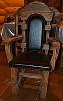 Кресло под старину с повышенной прочностью оббивки