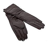 Женские кожаные перчатки длинные
