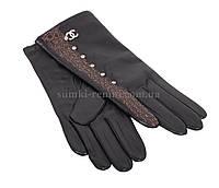 Дизайнерские кожаные женские перчатки