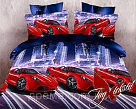 Подростковый постельный комплект Гонки (2шт Нав.) ТМ Kris-pol ранфорс Полуторный