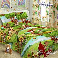 Детский постельный комплект Сказка ТМ TAG поплин полуторный 150х220