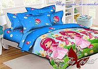 Детский постельный комплект Шарлотта Земляничка ТМ TAG ранфорс полуторный 150х220