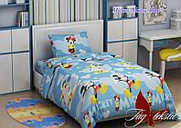 Детский комплект постельного белья (160х220) ТМ TAG Mickey Mouse blue