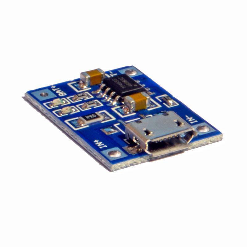 TP4056 контроллер заряда Li-ion аккумулятора 5V 1А  (Micro USB)