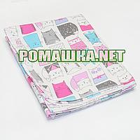 Детская фланелевая пелёнка 110х90 см (фланель, байковая, байка) теплая для пеленания 3265 Розовый 5