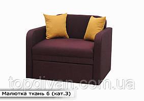 """Дитячий диван """"Малютка"""" (тканину 6) Габарити: 0,96 х 0,80 Спальне місце: 1,95 х 0,80"""