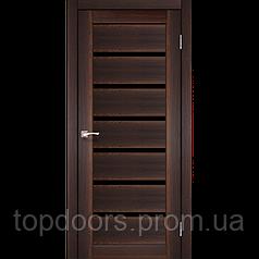 """Двери межкомнатные Корфад """"PD-01 ПО черное стекло"""""""