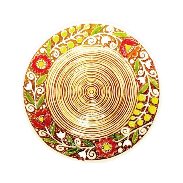 Тарелка керамическая с орнаментом 17 см