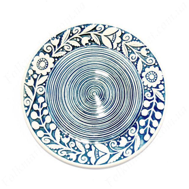 Блюдо керамическое с орнаментом 17 см