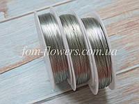 Проволока  0,3 мм. Цвет-серебро, 50 метров, фото 1