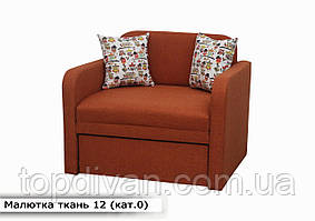 """Дитячий диван """"Малютка"""" (тканина 12) Габарити: 0,96 х 0,80 Спальне місце: 1,95 х 0,80"""