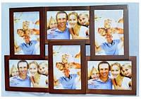 Фоторамка коллаж (мультирамка) коричневый на 6 фото 108-3