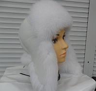 Шапка ушанка женская меховая белая