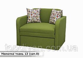 """Дитячий диван """"Малютка"""" (тканина 13) Габарити: 0,96 х 0,80 Спальне місце: 1,95 х 0,80"""