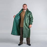 """Плащ дождевик непромокаемый """"Зеленый"""" из ПВХ + нейлон, размер XXL"""