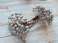 Калина глянцевая цвет серебро, 0,9 см