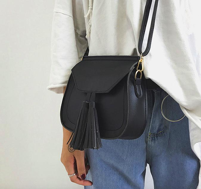 88b8aac651ac Купить Женскую сумку через плечо с ручкой Treysi Чёрную недорого в ...