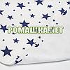 Детская непромокаемая пеленка с мягким ворсом (байковая) двухсторонняя многоразовая 70х50 см 3914 Синий